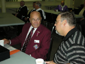 KOFC 4949 David Doran and Deputy Grand Knight after a district meeting in Salmon Arm