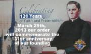 KOFC4949 131 Years March 29th KnigthsofColumbusf ounding