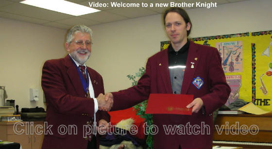 KOFC4949 Welcome to a new Knight, St. James Council 4949. Click on picture to watch video. Knight4949