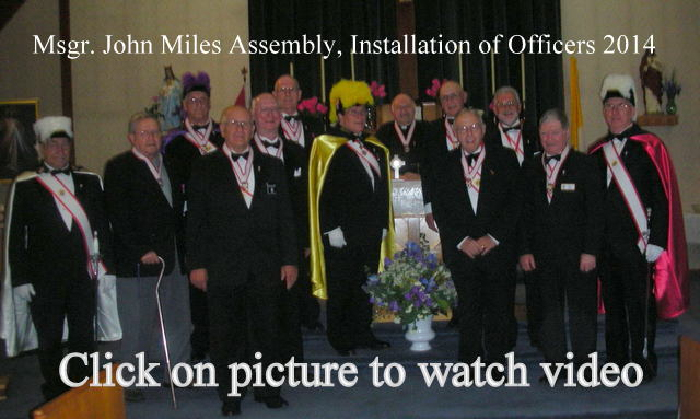 KofC Installation Of Officers 2014